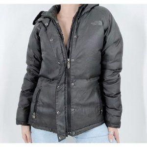 The North Face Faux Fur Trim Black Coat